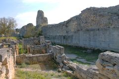 Resten van de oude geruïneerde stad in de Krim Royalty-vrije Stock Afbeelding