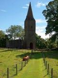 Ruins next to the farm. Stock Photos