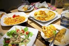 Resterend voedsel Stock Afbeeldingen