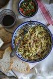 Restert kokt angus nötkött förvanskat ägg Royaltyfria Foton