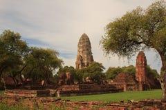 Restes antiques de temple de Wat Ratchaburana à Ayutthaya Hist Photos stock