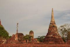 Restes antiques de temple de Wat Ratchaburana à Ayutthaya Hist Photographie stock libre de droits