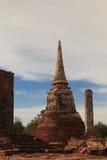 Restes antiques de temple de Wat Ratchaburana à Ayutthaya Hist Image stock