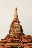 Restes antiques de temple de Wat Ratchaburana à Ayutthaya Hist Photos libres de droits