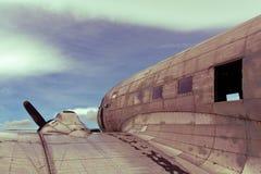 Restes d'un avion du Dakota DC3 Images libres de droits
