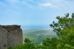Restes d'un gala antique de forteresse en Azerbaïdjan Photo stock