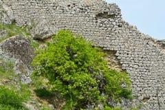 Restes d'un gala antique de forteresse en Azerbaïdjan Image stock