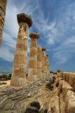 Restes d'un temple du grec ancien de Heracles photo stock