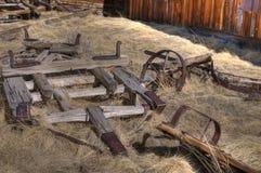 Restes de chariot abandonné photo stock