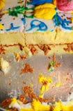 Restes de gâteau Images libres de droits