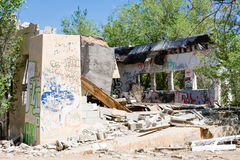 Restes de graffiti de sud-ouest hantés Image libre de droits