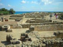 Restes de Kerkouane, Tunisie photographie stock libre de droits
