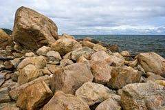 Restes de la moraine terminale glaciaire Image libre de droits
