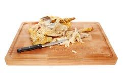 Restes de poulet photographie stock libre de droits