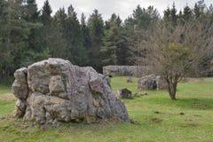 Restes de résidence Werwolf d'Adolf Hitler image stock