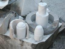 Restes de traiter le marbre Image stock