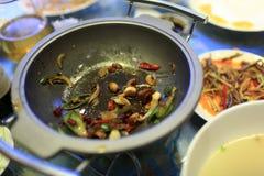 Restes des cuisses de grenouille Images libres de droits