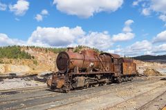 Restes des vieilles mines de Riotinto à Huelva Espagne images libres de droits