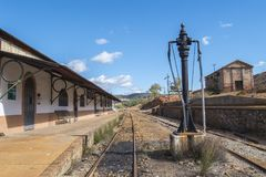 Restes des vieilles mines de Riotinto à Huelva Espagne photo stock