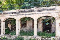 Restes du bâtiment abandonné Images libres de droits