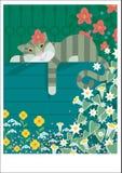 Restes paresseux de chat Images stock