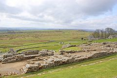 Restes romains chez Housesteads, le Northumberland photos libres de droits