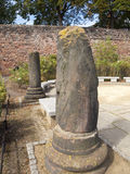 Restez des piliers dans Roman Gardens de Chester Images libres de droits