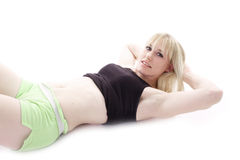 Restful blonde woman Stock Photography