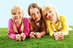 Restful girls Royalty Free Stock Photography