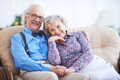 Restful seniors Stock Image