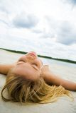 Restful woman Royalty Free Stock Image