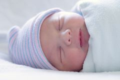 Restfully sleeping baby boy Royalty Free Stock Photography