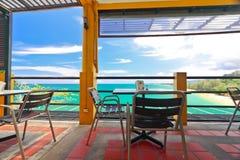 Restfulness avec la couleur de turquoise d'Andaman Images libres de droits