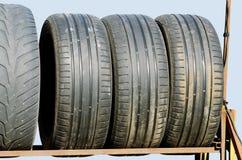 Restgummihjul från bilen Royaltyfri Fotografi