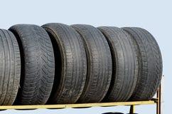 Restgummihjul från bilen Royaltyfri Bild