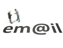 Resti in contatto dal email fotografia stock libera da diritti