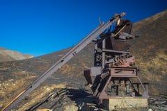 Resti d'arrugginimento della miniera d'oro Immagini Stock