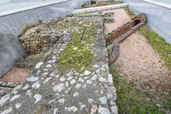 Resti del campo militare romano a Michaelerplatz a Vienna fotografie stock libere da diritti