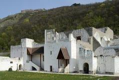 Resti del palazzo di rinascita a Visegrad Fotografia Stock