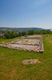 Resti della chiesa (IX C.) nel castello di Devin. La Slovacchia Immagine Stock