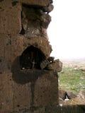 Resti della chiesa Yeghvard di Zoravar Immagine Stock Libera da Diritti