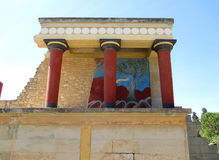 Resti della dogana antica a Cnosso, sito del patrimonio mondiale dell'Unesco sull'isola di Creta Immagini Stock