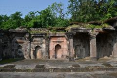 Resti della moschea antica a Mandav India Fotografie Stock Libere da Diritti