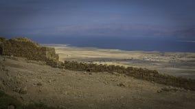 Resti delle pareti del palazzo di Masada Immagine Stock Libera da Diritti