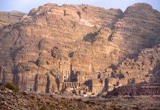 Resti di PETRA nabatean della città in Giordania Fotografia Stock