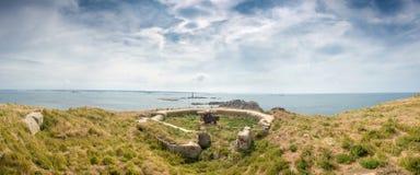 Resti di un bunker tedesco della seconda guerra mondiale Immagini Stock