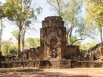 Resti di uno stile di khmer della costruzione Fotografie Stock