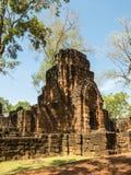 Resti di uno stile di khmer della costruzione Immagini Stock Libere da Diritti