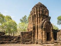 Resti di uno stile di khmer della costruzione Immagine Stock Libera da Diritti