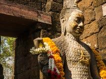 Resti di uno stile di khmer della costruzione Immagine Stock